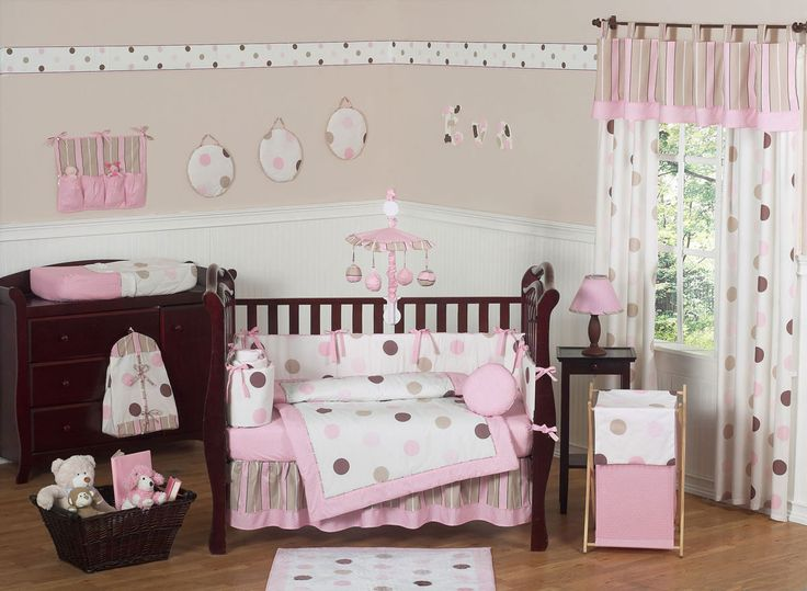 Cute And Lovely Baby Girls Nursery Room Designs : Awesome Beige And White  Baby Girls Nursery