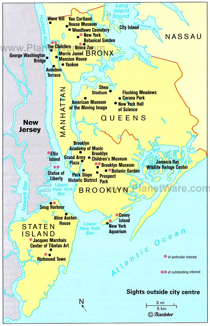 new york map with cities   Map of New York City Surroundings   PlanetWare