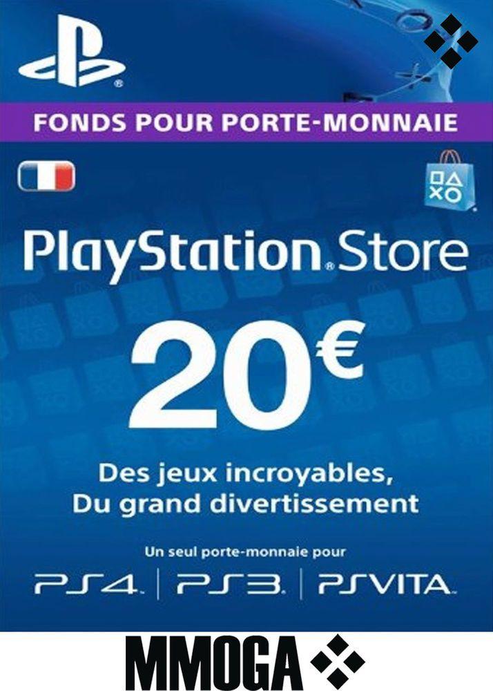 20 Eur Carte Playstation Network 20 Euro Psn Code Jeu Compte