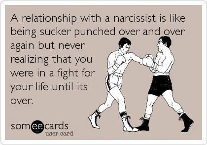 Know who you're dealing with... A narcissist has only one objective - to destroy you.