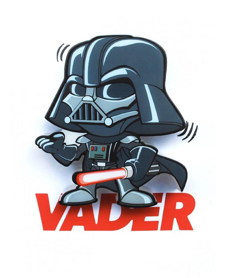 This Cool Star Wars Mini 3d Led Wall Light Darth Vader