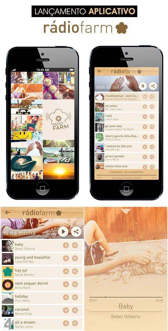 """A Farm começa o ano de 2014 com uma super novidade: o app Rádio Farm. As famosas trilhas que animam as lojas da marca viraram rádio no site da marca, e agora também vão pro seu celular. Os """"moods"""" combinam com diferentes humores e situações. A seleção, com 28 playlists, vai de """"Dias de sol"""" (pra ouvir curtindo ao ar livre) até """"Trabalhando"""" (bom pra se concentrar no escritório), passando ainda por temas como """"Esquenta"""" (para animar a pré-night). Amei! =) O app será lançado na próxima…"""