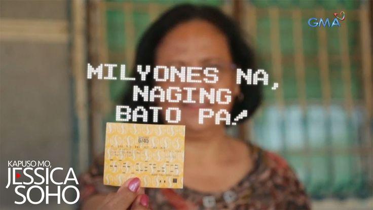 Kapuso Mo, Jessica Soho: Milyones na, naging bato pa! - WATCH VIDEO HERE -> http://philippinesonline.info/trending-video/kapuso-mo-jessica-soho-milyones-na-naging-bato-pa/   Aired: April 2, 2017 Tumama ang lahat ng numerong tinayaan ni Aling Rosalim sa Lotto. Ang premyo tumataginting na P85 million. Pero bakait hindi niya ito makubra? Alamin sa kuwentong ito. Watch 'Kapuso Mo, Jessica Soho' every Sunday on GMA hosted by Jessica Soho.  Subscribe to us! Find your fav...