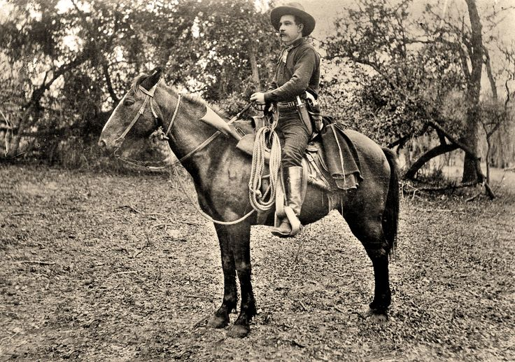 IRA ATEN — Ira Aten is definitely armed to the teeth in this 1887 photo. Notice his knife and pistol on the same side. Several Texas Ranger photos seem to show this preference, perhaps to favor the best hand in a fight?  – True West Archives –
