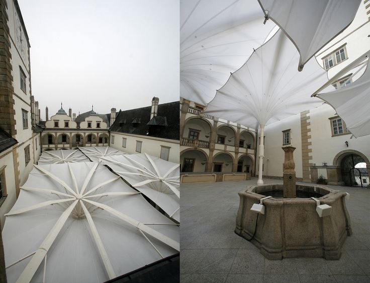 Architectural Canopy Structures : Best retractable fabric structures images on pinterest