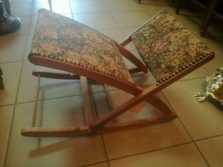 Купить Удобная антикварная подставка для ног - кресло, комфорт, отдых, качалка, гостинная, ткань, Дуб