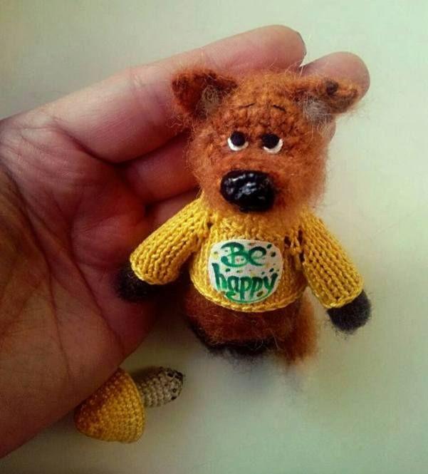 Cute Wool Dog Toy Needle Felting Felt Toys Needle Felted Animals