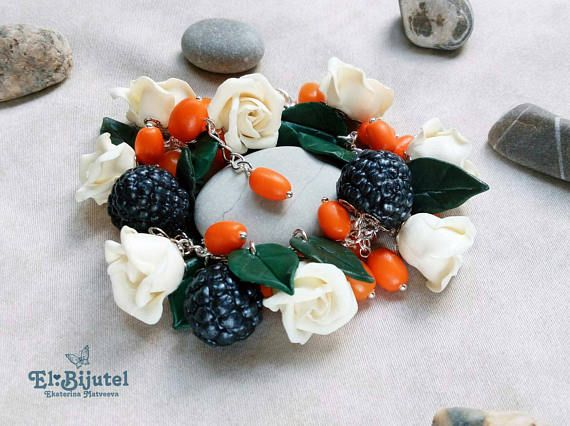 Check out this item in my Etsy shop https://www.etsy.com/listing/523206922/polymer-clay-bracelet-flower-bracelet