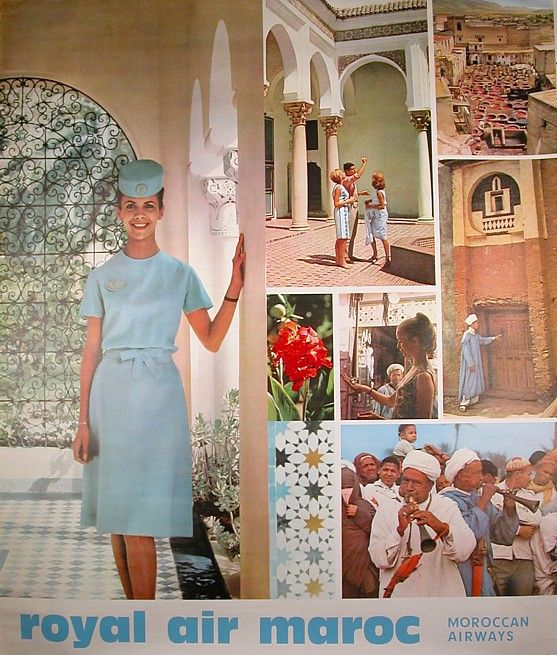 1970s Royal Air Maroc poster