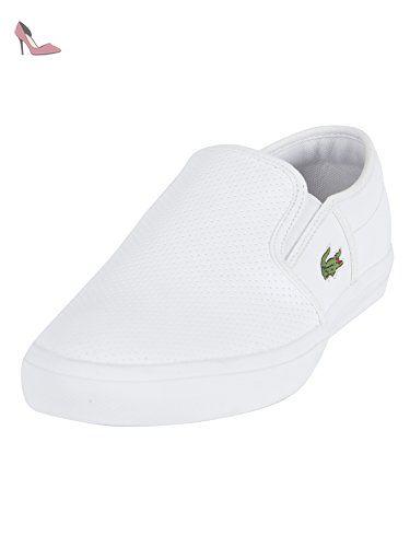 Lacoste Homme Gazon BL formateurs 1 CAM, Blanc, 40.5 - Chaussures lacoste (*Partner-Link)