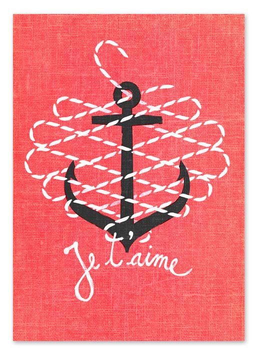 Anchor cute design logo idea