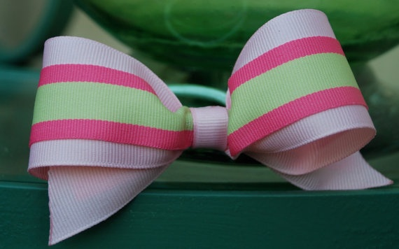 Women or children preppy grosgrain fabric hair by savydesigns2012