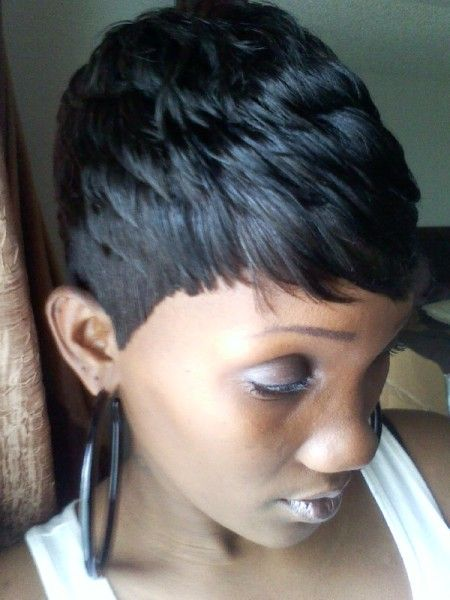 Featured Member: Shondra's Quick Weaves Shondra's short haircut for black women – thirstyroots.com: Black Hairstyles and Hair Care