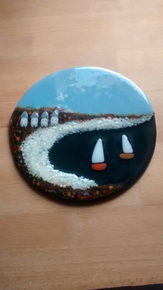 My latest fused glass seascape clock: www.lowmarfusedglass.co.uk