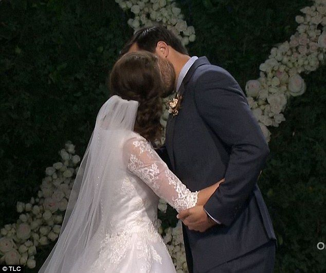 First kiss: Jinger Duggar and Jeremy Vuolo exchanged their first ever kiss with each other...