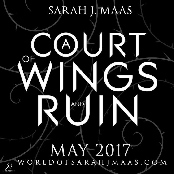 So excited to finally share the title of the third ACOTAR book with you guys!!! Can't wait for you all to read it this May! Also! If you guessed the title correctly, head on over to Bloomsbury's twitter account for details on how to claim your tote!! Yayyyy!!!! #acourtofwingsandruin #ACOWAR #ACOMAF #ACOTAR
