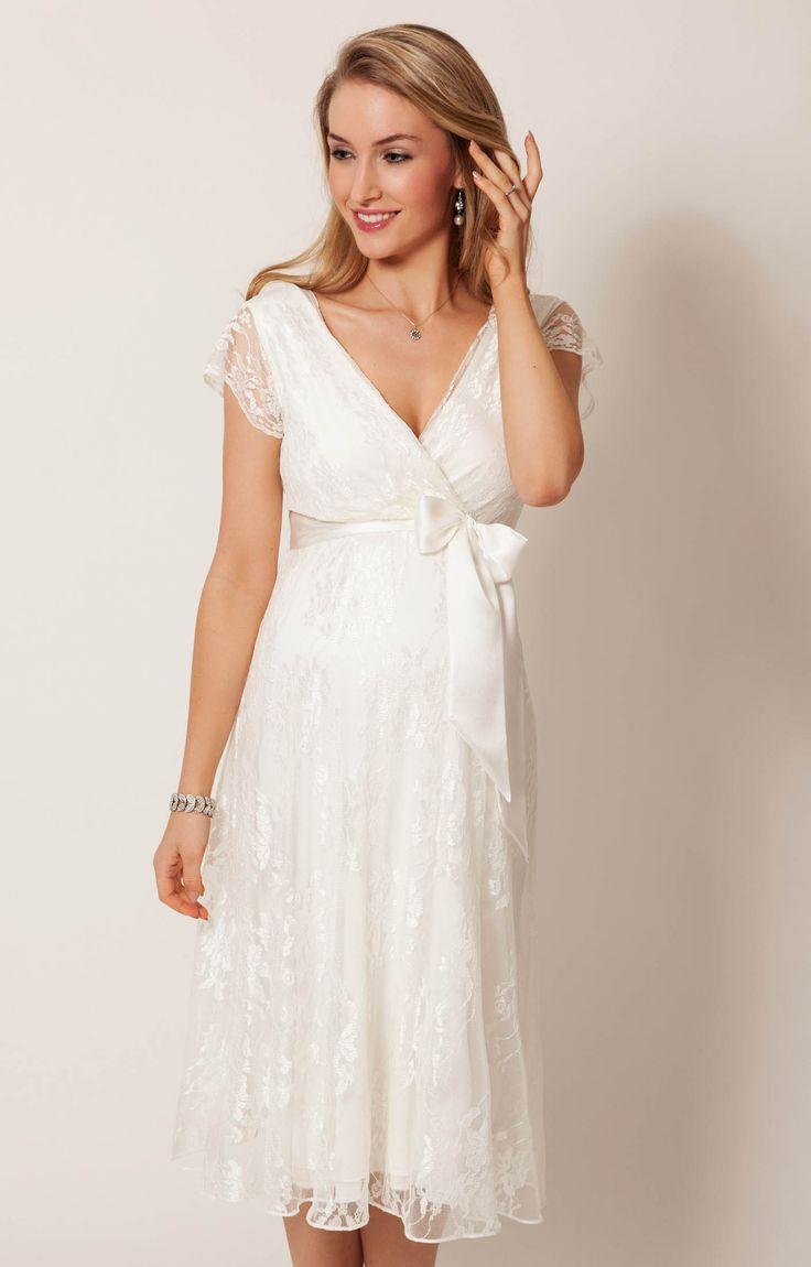 Eden evening dress short (Ivory Dream) - Maternity wedding dresses, evening dress and party dress by Tiffany Rose.