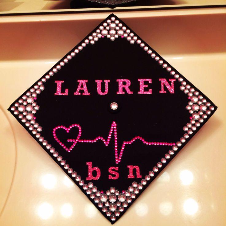 EKG - BSN nursing graduation cap! <3