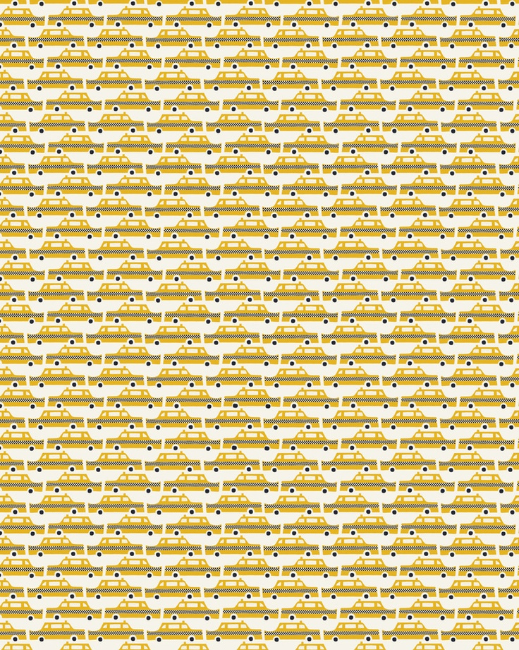 Yellow Cab Gift Wrap by Debbie Powell, Sold at Lagom Design £1.50