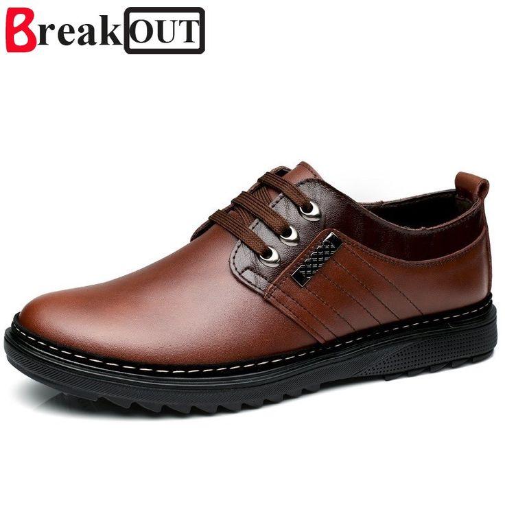 Break Out Men Shoes for Men Formal Shoes Genuine Leather Business Dress Shoes Breathable Spring Summer Men Oxfords
