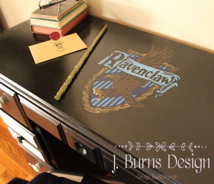 Harry Potter Inspired Desk Makeover  - How to Give an Old Desk an Almost Magical Makeover