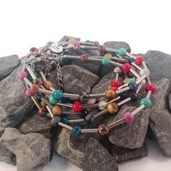 Bracelets made with stainless steel and semi precious gemstones from IAMLUND