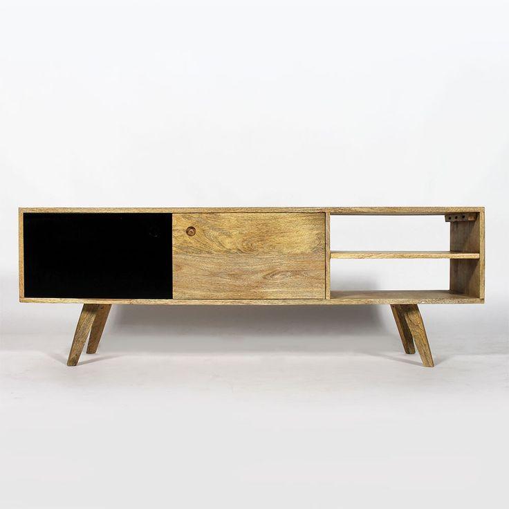 1000 id es sur le th me meuble tv bois massif sur for Meuble en bois de manguier