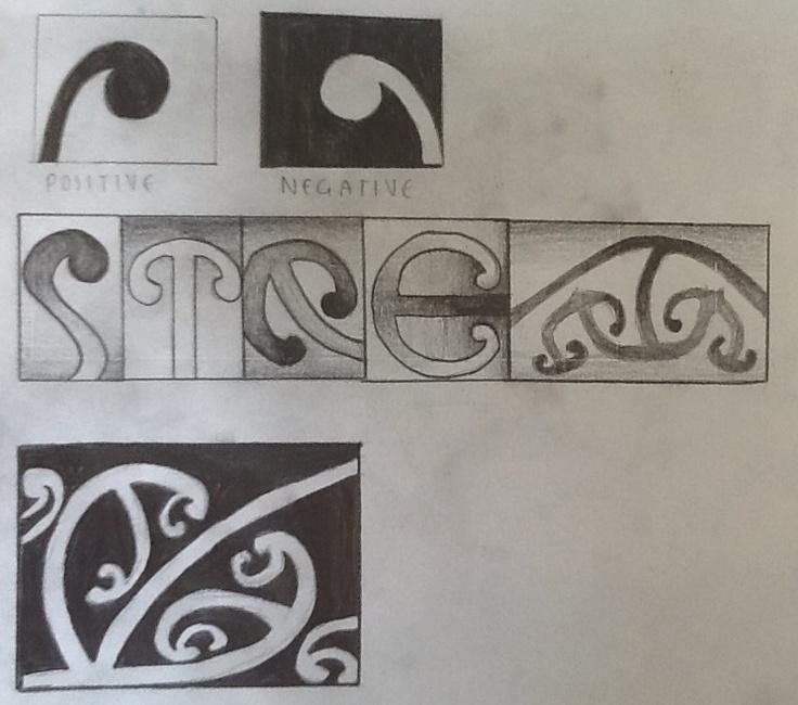 Maori symbols and drawings