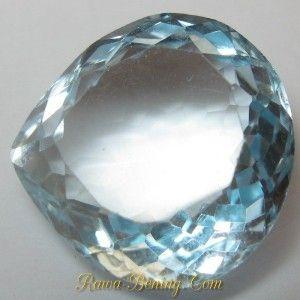 Batu Permata Pear Blue Topaz VVS 9.20 carat