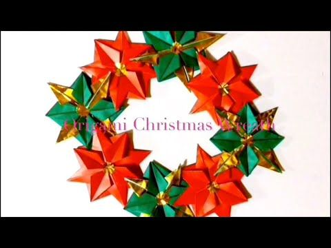 折り紙 六角リース Origami Hexagonal Wreath(カミキィ kamikey) - YouTube