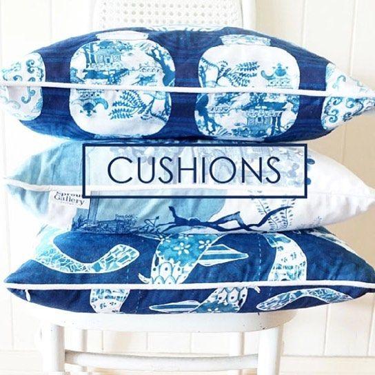 Blue and white cushion. Chinoiserie cushions, ming jar cushion, Koi fish cushions. Designer cushions. Worldwide shipping