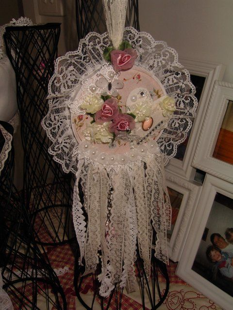 See my Etsy shop https://www.etsy.com/au/listing/510792496/dreamcatcher-victoriana-shabby-chic?ref=related-2