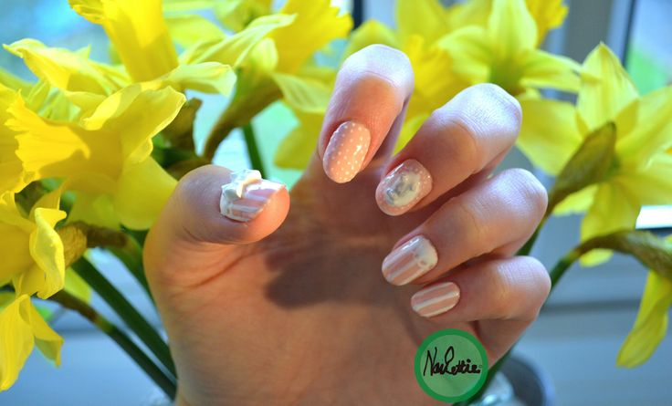 Smooth elegant colours nude and white with quirky #kawaii 3d bows and teddy bears!!