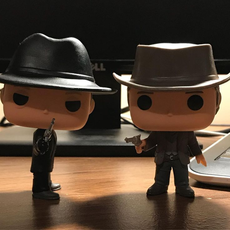 The #maninblack & #teddy team up. #hbo #westworld #weirdwestradio #western #funkopops  @weirdwestradio @originalfunko