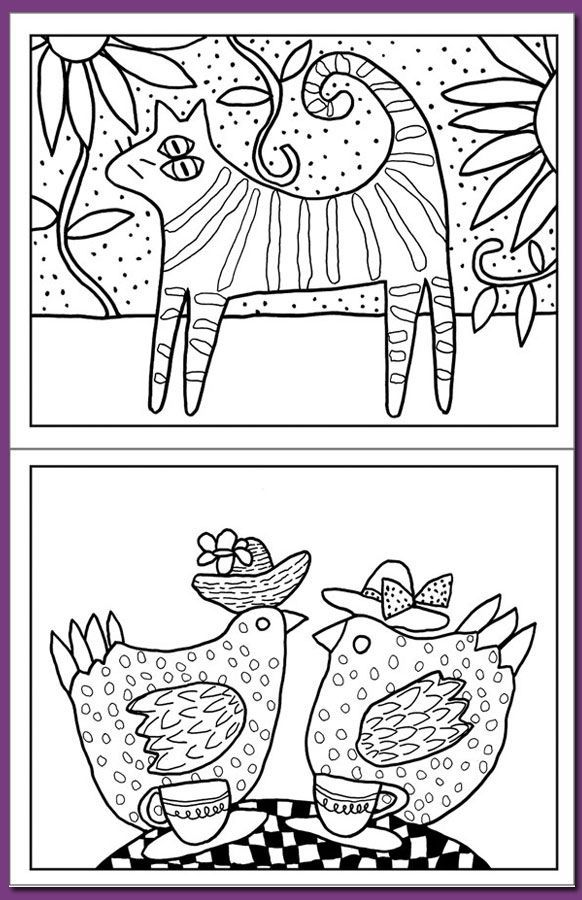 Folk Art Birds Coloring Pages High Quality Coloring Pages Bird Coloring Pages Mexican Folk Art Coloring Books