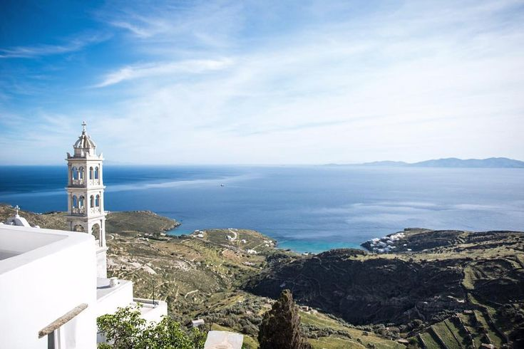 Enjoying the unlimited Blue of Greece  in Tinos island (Τήνος)