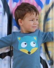 T-shirt Bleu Gobelin  La Queue du Chat