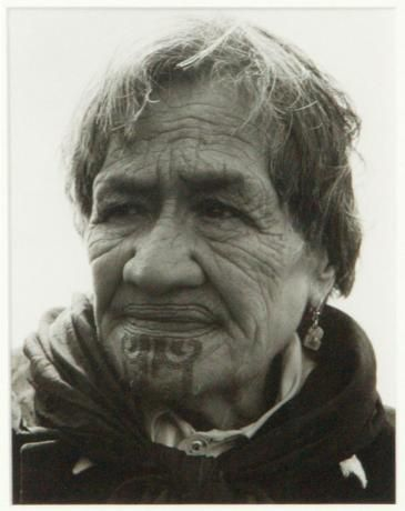 Portrait of Maori Woman with Moko by ans westra