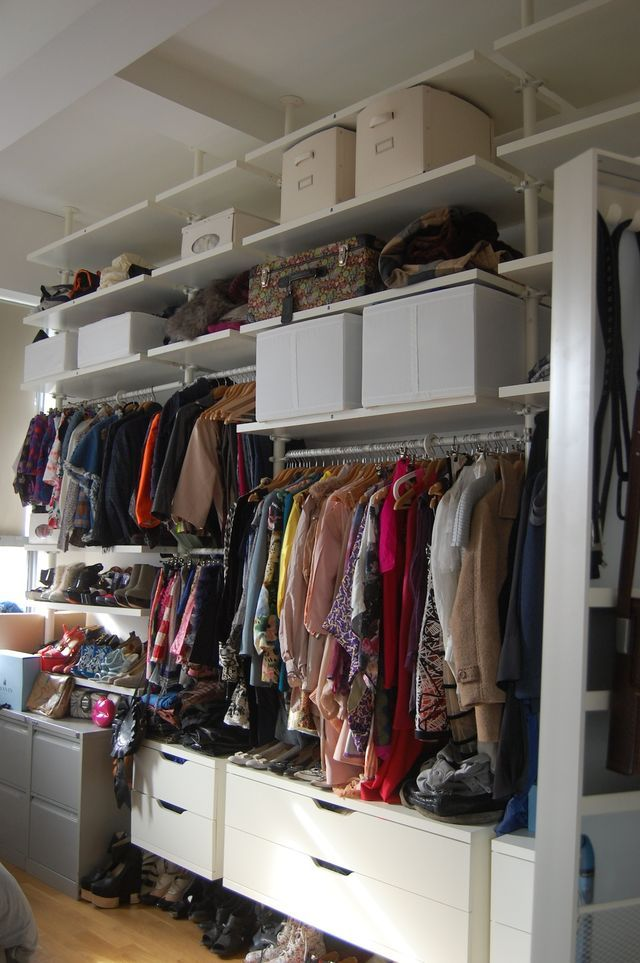 closet organization - ikea stolmen wardrobe system