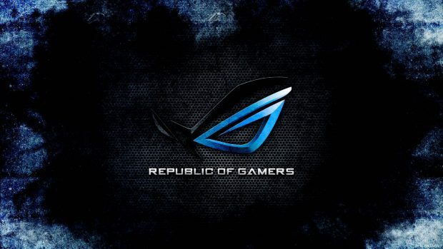Hd Asus Rog Backgrounds Gaming Wallpapers Black And Blue Wallpaper Asus Rog