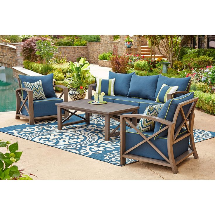 Nantucket 4 Pc Seating Set Indigo Sam 39 S Club