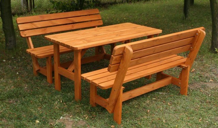 Zestaw mebli ogrodowych BB-Z3 - stół + 2 ławki, cena 699 zł