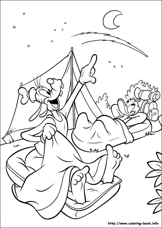 Goofy Coloring Picture