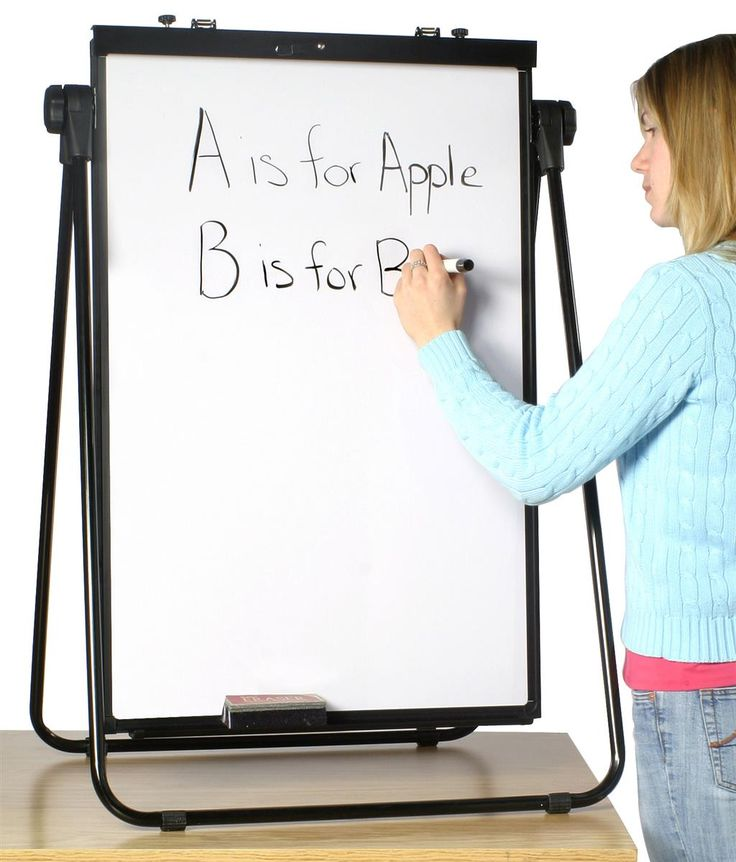 Adjustable Easel: Markerboard and Flip Chart Display