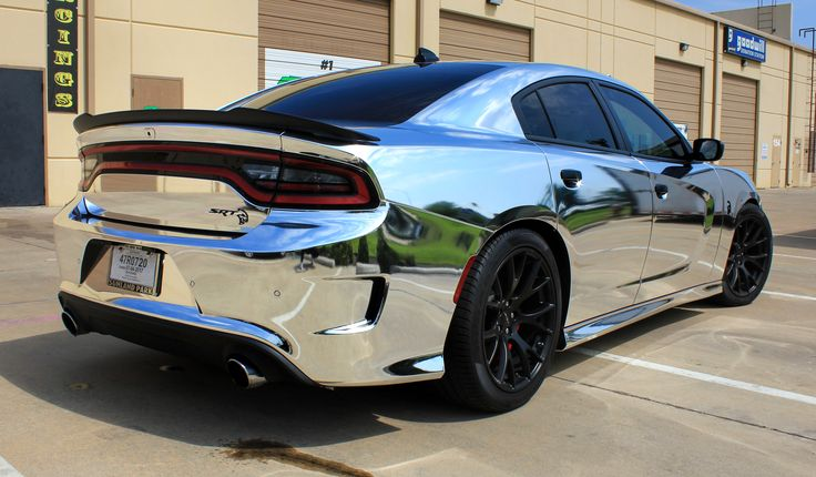 Challenger Srt Hellcat >> Chrome Cars Dodge Charger Hellcat | Metallic, Specialty and Chrome Wraps | Pinterest | Dodge ...