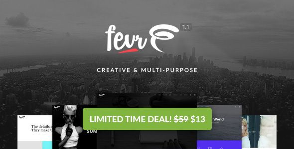 Fevr v1.1.1  Creative MultiPurpose Theme  Blogger Template