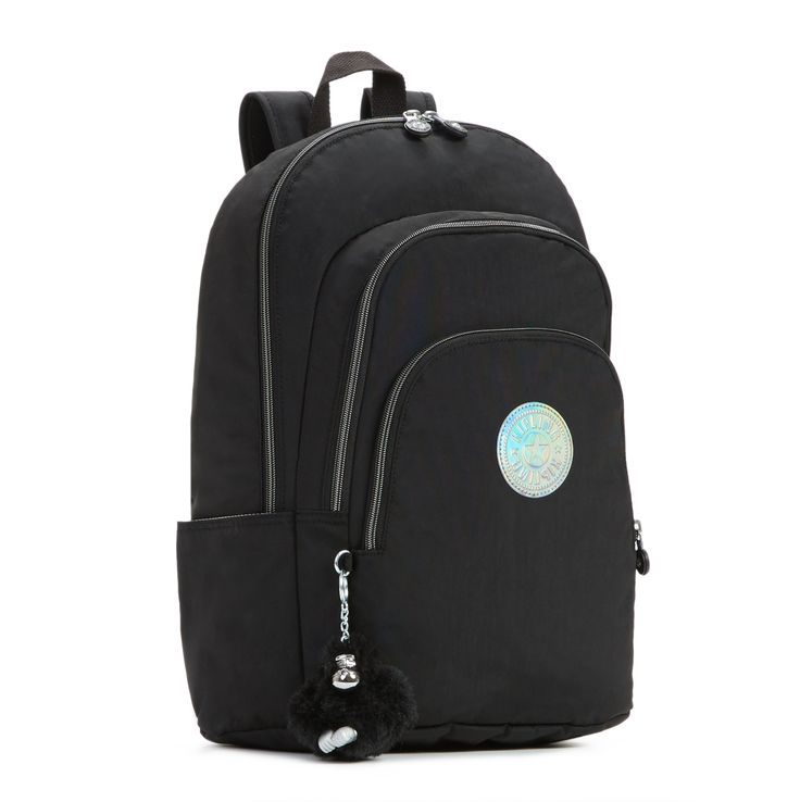 """Miles Laptop Backpack - So. Much. Storage. This backpack has a built-in spot to keep your laptop safe plus plenty of room in front zip compartments to stow anything from keys and pencils to your phone, calculator and more. Dimensions: 12.5"""" x 17"""" x 7.5""""  Weight: 1.21 lbs"""