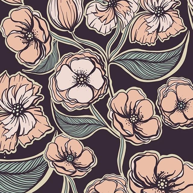 barbie.mcguire Work in progress ... #barbiemcguire #barbiemcguireatterns #surfacedesign #floral #surfacespatterns #print #patterndesign #patterns #art