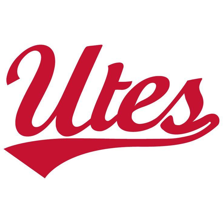 utes script utah utes vinyl sticker