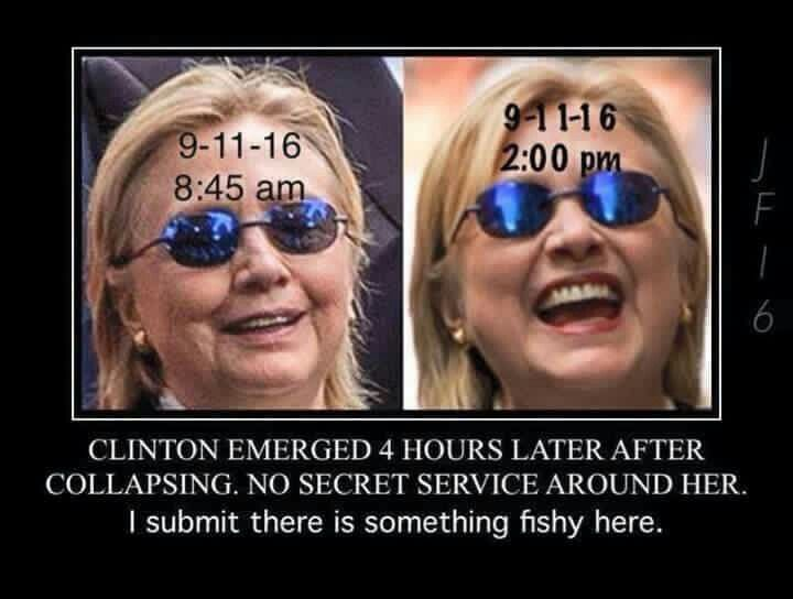 Not the same person. Hillary Clinton has a double.
